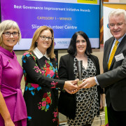 Ciara Herity Manager and Kathya O'Neill, Director receiving a Good Governance Award in 2019 for Best Governance Initiative in their category